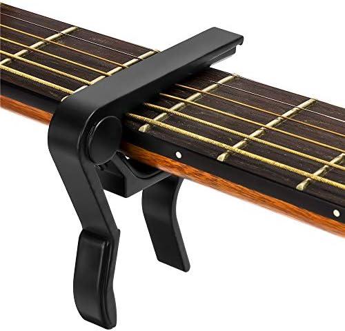 Guitar Capo for 6 String Acoustic and Electric Guitars Bass Mandolin Ukulele Black Guitar Capo product image