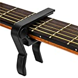 Guitar Capo,Capo for 6-String Acoustic and Electric Guitars, Bass,Mandolin, Ukulele, Black Guitar Capo