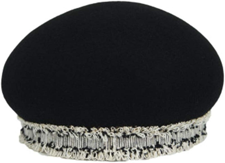 Beret Hat Female Woolen Top Hat Creative Black Dome Young Painter Hat Fashion