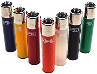 Bundle of 12 Original Clipper Lighters - Official Clipper Lighters with Removable Flint Housing - Assorted Colors