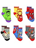 Super Hero Adventures Avengers Boys 6 pack Socks with Grippers (5-7 yrs, Multi)