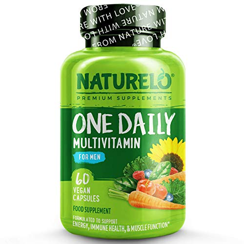 NATURELO One Daily Multivitamin for Men with Whole Food Vitamins and Organic Extracts, 0.1 kg, 60 Units