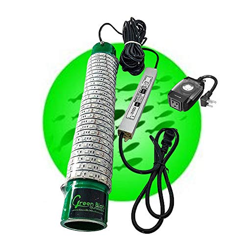 Green Blob Outdoors New Underwater Fishing Light, LED with Timer 7500/15000/30000 Lumen Fish Attracting Light, Snook (30000 50ft Cord) Made in Texas