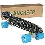 WeSkate Skateboard Komplettboard 22 Zoll mit ABEC-7 Mini Cruiser Skateboard für Kinder Jungendliche und Erwachsene, Belastung 100kg - 7