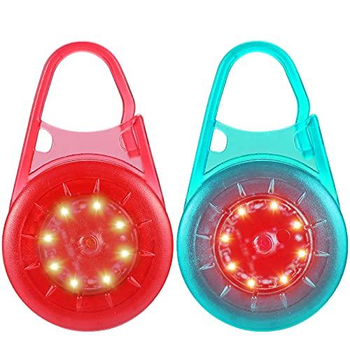 Blinklicht Schulranzen fur Kinder - USB Wiederaufladbar Doppelzweck LED Reflektoren/ Sicherheit Licht Set/Rucksack Kleidung Reflektor/Schuhe Clip für Laufen Wandern Radfahren Hunde Leuchtanhänger 2er