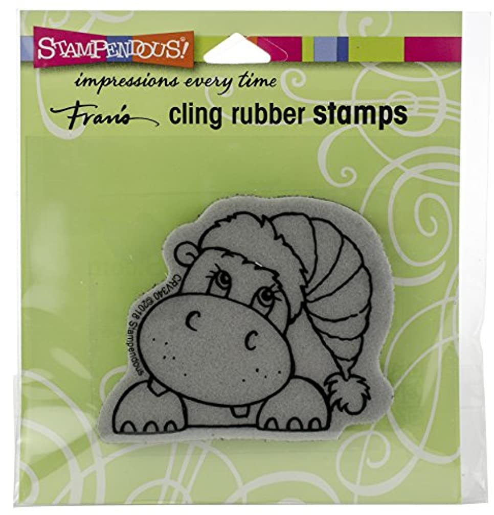 Stampendous Cling Stamp, Hippo Holiday