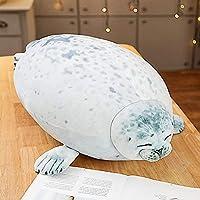 30/40 / 60cmシミュレーション大阪シーリングドールぬいぐるみ小さなシール人形オーシャンアニマルピローシールシェル(カラーダイレクトノート)_60cm(約0.95kg) GINDU ( Color : White Seal , Size : 40cm (about 0.55kg) )