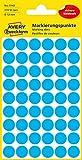 AVERY Zweckform 3142 selbstklebende Markierungspunkte (Ø 12 mm, 270 Klebepunkte auf 5 Bogen, runde Aufkleber für Kalender, Planer und zum Basteln, Papier, matt) blau