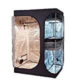 TopoGrow 2-in-1 Indoor Grow Tent 48'x36'x72' 600D High-Reflective W/2-Tiered for...