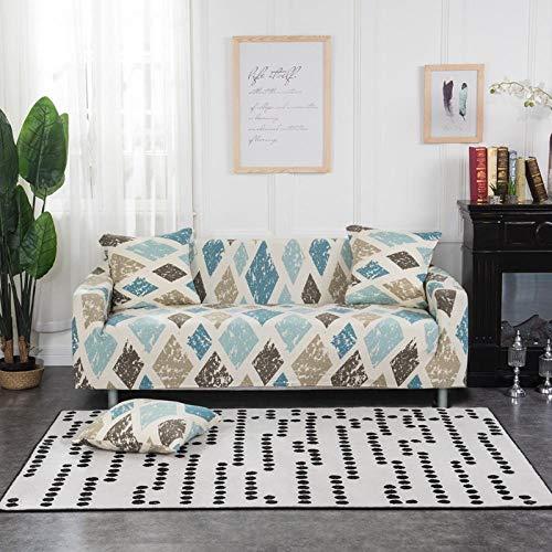 lanying Sofahusse Couchhusse Spannbezug für Sofa mit Armlehne,All-Inclusive Bedruckte Sofabezug, rutschfestes Stretch-Sofatuch,-03_3-Sitzer 190-230cm
