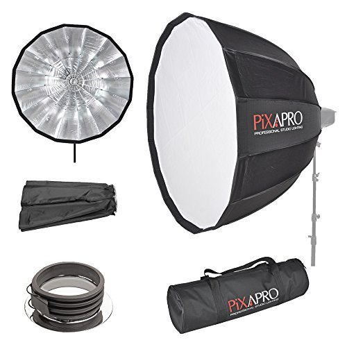PIXAPRO 16-Sided Easy-Open Diepe Paraplu Softbox, Fitting- Profoto, 90cm