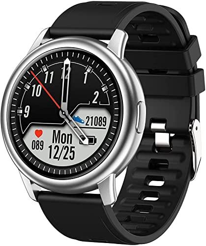 PKLG Reloj inteligente, pantalla táctil con control de frecuencia cardíaca y presión arterial, rastreador de actividad para hombres y mujeres, IP67 impermeable, compatible con Android IOS (B) (F)(D)