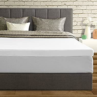 Best Price Mattress Topper King, 3  Memory Foam Mattress Topper with Cover, King Size