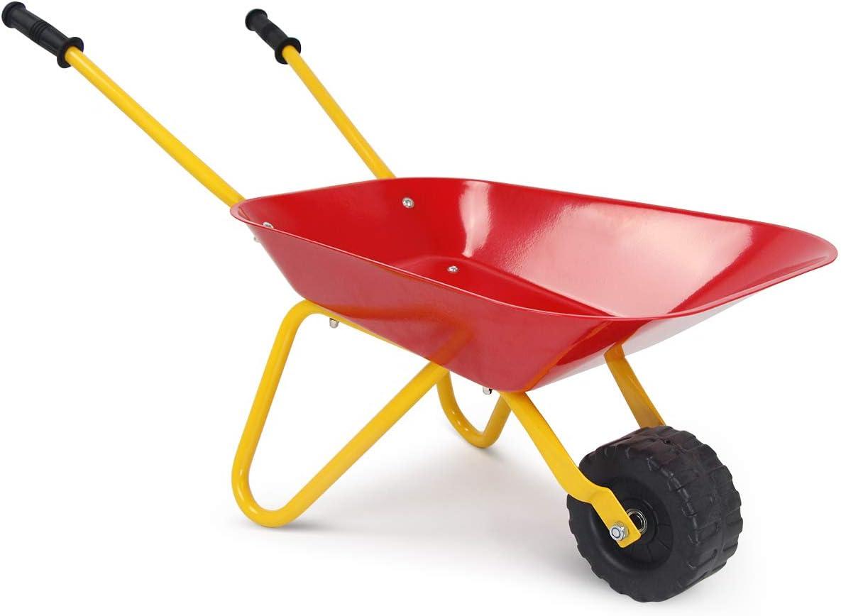 HOMGX Award Kids Wheelbarrow Outdoor Toy Ranking TOP12 Steel Tra w