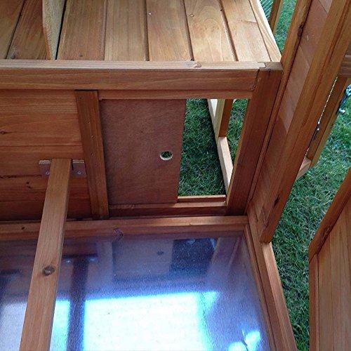 FeelGoodUK Hühnerhaus mit einem Dach vollständig öffnen – Schönes Modell mit integrierten Lauf und Reinigungsanwendungen und Nacht Tür – CH14 NATURAL & EXT DE - 6