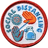 Cub Girl Boy SOCIAL DISTANCING Embroidered Iron-On Fun Patch Crests Badge Scout Guides
