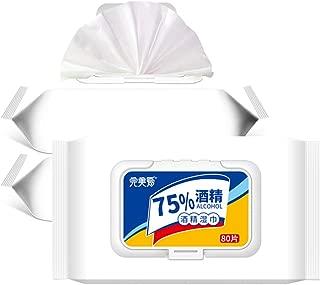 DGSOEDPE ウェットシート 75% 除菌クロス 使い捨て 自宅用 家庭用 80pcs