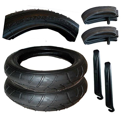 2 Stück Reifen + Schlauch 280 x 65-203 mit Montagehebel