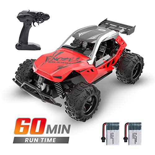 DEERC Remote Control Car High Speed RC Racing Cars 20 KM/H, 2.4 GHZ Fast Toy Car for Kids, 2 Rechargeable Batteries for 60 Min Play, Toy Gifts for Boys & Girls, Red