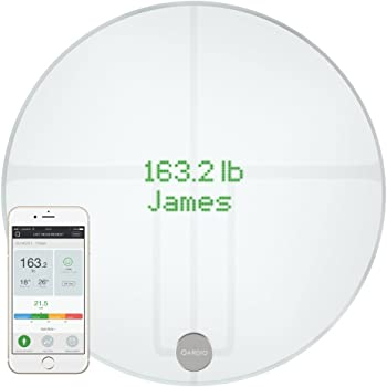 QardioBase2 WiFi Smart Scale and Body Analyzer: monitor weight, BMI and body composition, easily store, track and share data. Free app for iOS, Android, Kindle. Works with Apple Health.