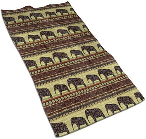 VLOOQ-HX Estampado Africano con Elefantes Toallas de Mano de Fibra extrafina Toalla de Playa Ultra Suave Toalla de baño para niños, niños, niñas y Adultos