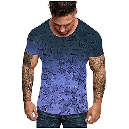 T-Shirt Uomo Donna Unisex 3D Stampato Maglietta Camisa con Manga Corta Graphics Tees Stampa T-Shirt Camicia Uomo Elegante Maglietta Estivi Casual Vintage Stretch Maglione Cotone Uomo Sportivi Tumblr