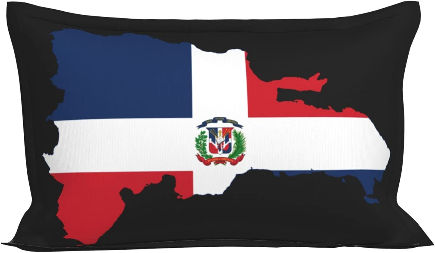 Flag Map Max 87% Tulsa Mall OFF of The Dominican Republic Super Lightweight Pillowcases