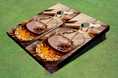 Max 61% OFF All American Max 62% OFF Tailgate Cigar and Cognac Corn Boards Theme Hole #1