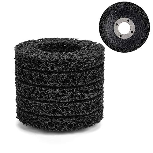 Poly Strip Wheel Schwarz Schwarz Diamond Diamond Shutter Wheel 5Pcs 100mm Schwarz Poly Strip Wheel Scheibenlack-Rostentfernungswerkzeug für Angel Grinder Buffing Wheels