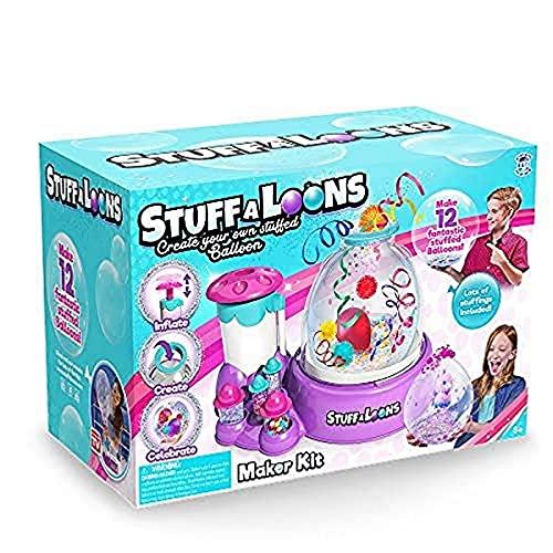 Stuffaloons - Deluxe Stuffed Balloon Maker Kit - Includes 12 Balloons, 10 Mini Deco Balloons, Sparkles, Confetti, 10 Pom Poms