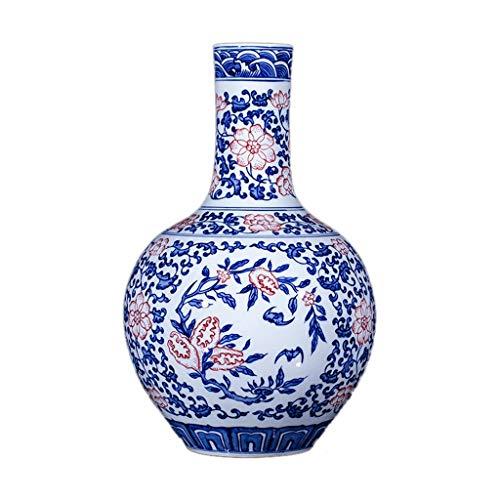 Bloempot van klassiek keramiek van hoge kwaliteit voor de decoratie van het huis van kunst Domestica bruiloft woonkamer slaapkamer kantoor kantoor blauw 23 x 36 cm
