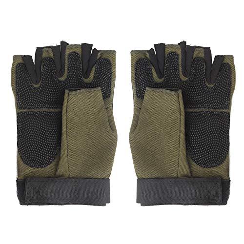 Guantes de alta resistencia para exteriores, para deportes al aire libre, guantes de medio dedo, resistencia al desgaste,(L, Half-finger gloves)