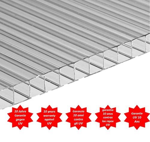 Placa/Panel de Policarbonato Alveolar Traslúcido, 6 mm de grosor, 200 x 105 cm