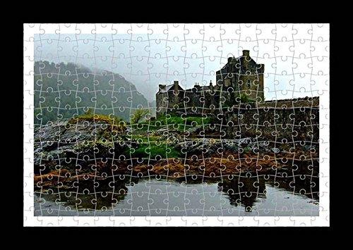 Stile Puzzle, Pre-assemblato da parete con stampa del castello Eilan Dolan Lisa Loft