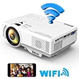 2019 Masterpiece, WiFi Mini Projector 1080P Supported, 2400 Lumens Full HD Video Projector