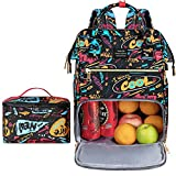 Lunch Backpack for Women, VSNOON 15.6 inches Cooler Backpack with Removable Leak-proof Insulated Tote Lunch Bag & USB Port for Men & Women for Work Beach Camping Picnics Hiking