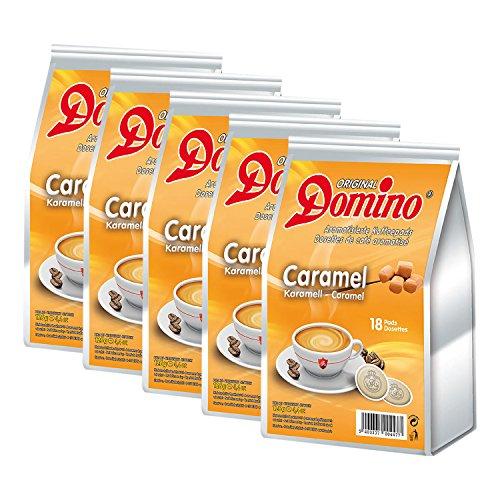 5 x DOMINO Kaffeepads Karamell 18 Pads