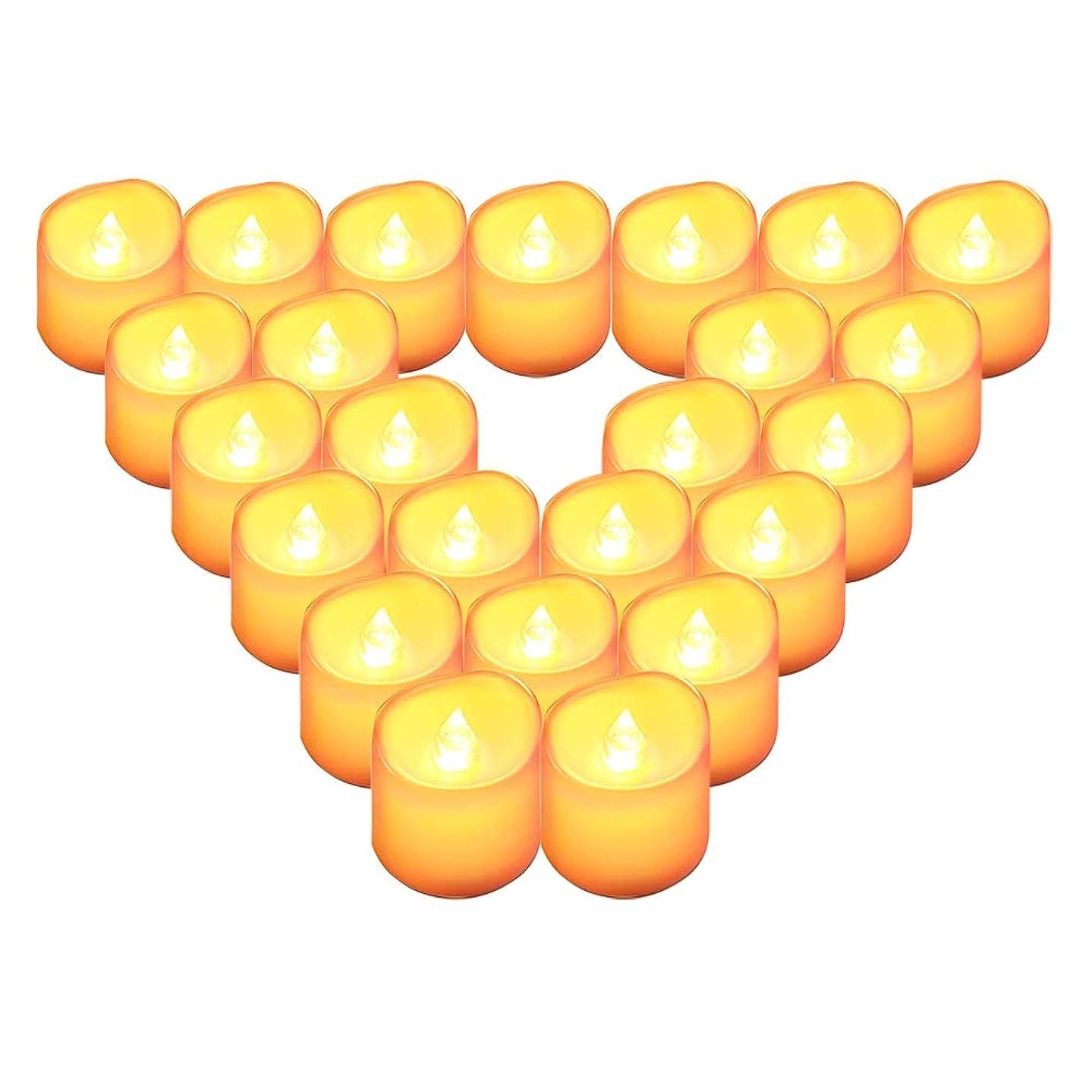 ジャンルパイロット明らかにするQBeau キャンドルライト LEDライト 蝋燭 暖色光 揺らぐ炎 ティーライトゆらゆら揺れる 火を使わない 安全 省エネ 長持ち 便利 おしゃれ クリスマス 結婚式 誕生日 室内 室外飾り インテリアライト 連続最大点灯時間約100時間 (24個セット)