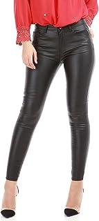 337135d05a1a2 La Modeuse - Pantalon Femme Coupe Slim Simili Cuir Effet ciré