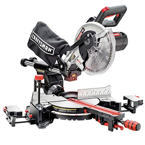 New Craftsman 10in INCH Single Bevel Sliding Compound Miter...