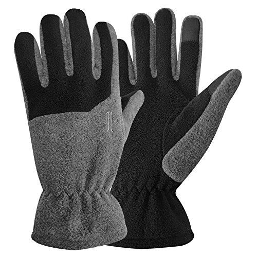 Iglus Herren Microfleece Touch Handschuhe, Herren, anthrazit, L/XL