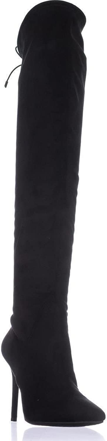 Jessica Simpson Lessy Over-The-Knee Pull On Boots, Black, 6 US