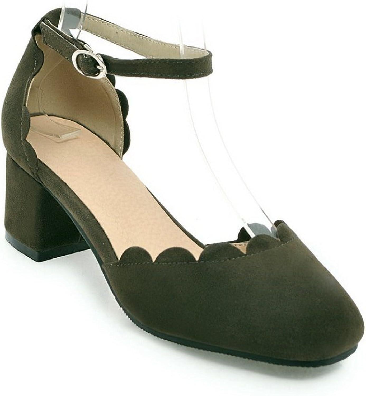 AdeeSu Womens Fringed Nubuck Huarache Urethane Sandals SLC03717
