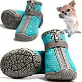 CALHNNA Dog Shoes for Small Medium Dogs Winter Pet Booties Nonslip Sole Paw Protector for Outdoor 4PCS