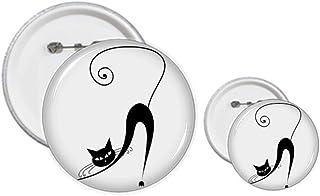 Kit de création de boutons et épingles, motif chat noir