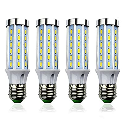 MD Lighting 10W E27 LED Corn Light Bulbs(4 Pack)- 42 LEDs 5730 SMD 800 Lumen COB Light Lamp Ultra Bright Warm White 3000K LED Bulb 80 Watt Equivalent for Garage Barn Workshop Large Area, AC 85V-265V