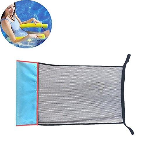 ROUNYY Pchwimmstuhl Pool Hängematte Luftmatratze Pool Lounge für Wasserspaß Liege für Erwachsen Sommer im Freienschwimmen DIY Zubehör planschbecke Pool zubehör (schwarz)