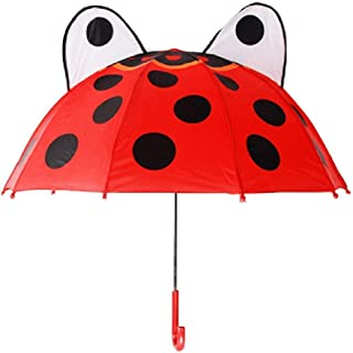 Seamless Spot Red Ladybug Sun/&Rain Automatic Umbrella Windproof Travel UV