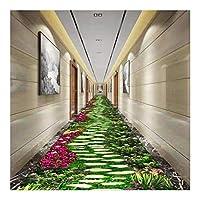 MDCG エントランスパッド 通路 ロングカーペット 3Dプリント HDパターン 玄関マット、 カスタマイズ可能 (Color : B, Size : 80x600cm)