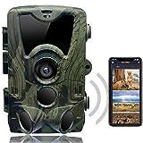 SUNTEKCAM Cámara de Caza WiFi 24MP 1080P Trail Game Cámara con visión Nocturna activada por Movimiento para Explorar, Cámara de Transmisión de telefonía móvil al Aire Libre Impermeable IP66